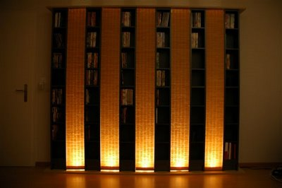 IkeaHacker shares the steps for creating lighted DVD shelving.