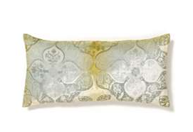 The Persian Ice Pillow ($159) features a burnout velvet pattern and icy silver.