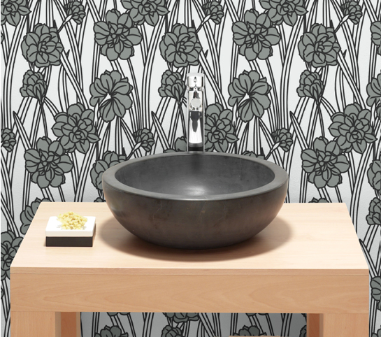Carnations can grace your wall with the Graham and Brown Plush Wallpaper ($40 per bolt).