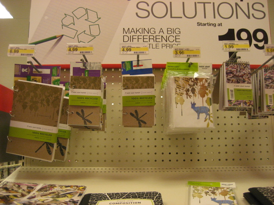 This stationery has a great design, and $1.99 is a great price to pay for recycled content cards.
