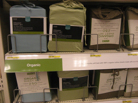 Target has a number of reasonably priced organic cotton sheet sets.