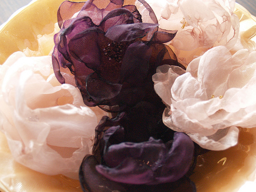 Reese Dixon's organza flowers would be fab for decorating at a wedding.
