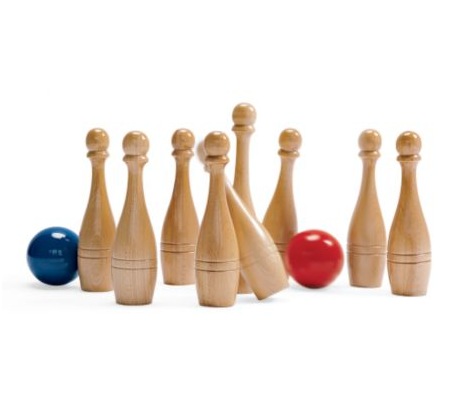 Add some more mild sporting elements to your backyard with the charming Lawn Bowling Set ($71).