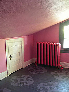 Cool Idea: Pink Walls and a Patterned Floor