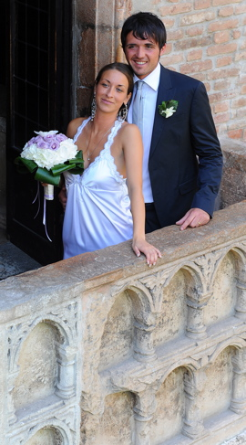 Romeo and Juliet Balcony Hosts First Wedding