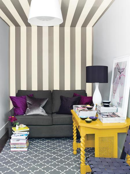 Painted stripes can make a major impact in small spaces. Check out this roundup of a few other ways you can use painted stripes to freshen up your home.