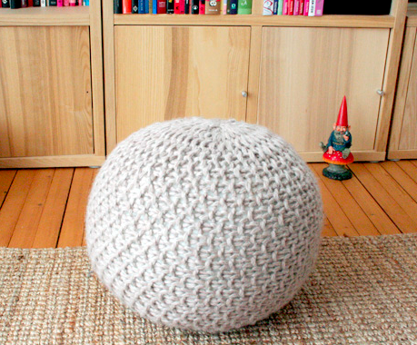 Knit this super-cute pouf with help from Pickles.