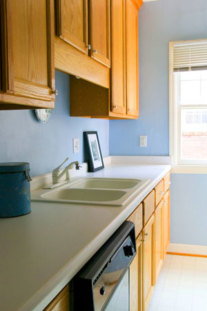 Before and After: A Sweet Galley Kitchen Makeover