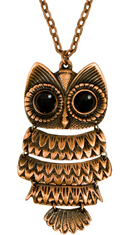 fredflare.com | hinged owl necklace