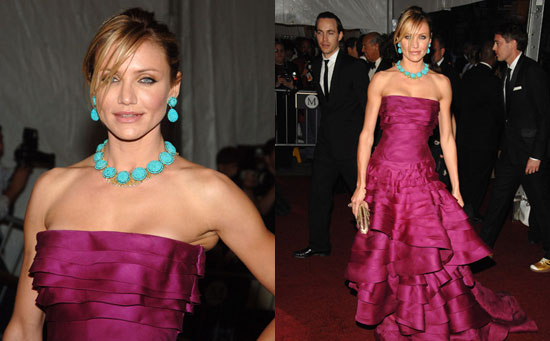 Cameron Diaz in Christian Dior at The Met's Costume Institute Gala