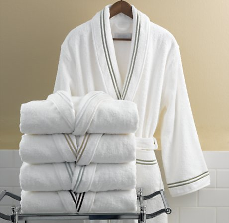 Last Chance to Win a Restoration Hardware Satin-Stitch Robe! Our Winner Will Be Chosen TODAY at 5 PST!