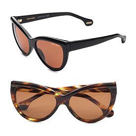 Tom Ford Eyewear - Anouk Cat's-Eye Sunglasses - Saks.com