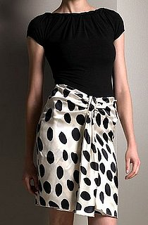 The Look For Less: Armani Collezioni Polka-Dot Skirt