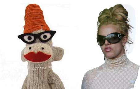 Who wore this look better? Britney Spears or the Sock Monkey?