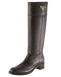 Prada Leather Riding Boot