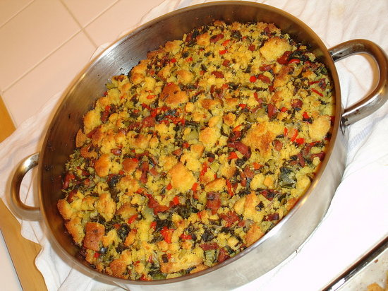The finished stuffing.