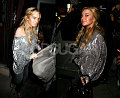 Glittery Lohan Hits The Town Running