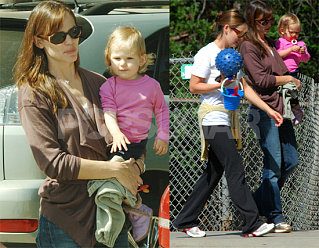 Jen & Violet Head to the Park While Her Ex Gets Married