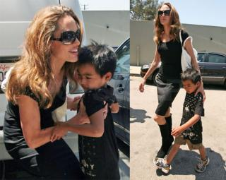 Angelina Brings Her Birthday Boy Maddox to Work