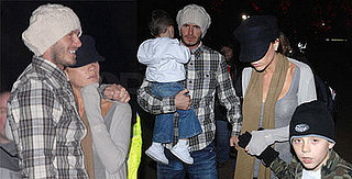 Beckhams Huddle Together in London