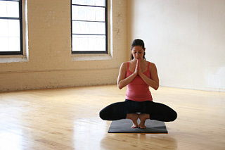 YOGA CHALLENGE:  Balancing Wide Squat