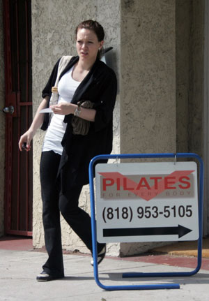 Hilary Duff Hearts Pilates