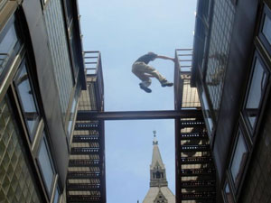 Parkour: Movie Chase Scene as Fitness Philosophy
