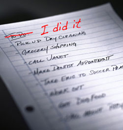 """I Did It"" List"