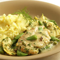 Healthy Dinner Idea: Chicken With Snap Peas and Spring Herbs