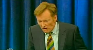 Conan Not Impressed By Wine Taster