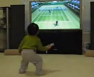 Another Wii-Crazy Toddler!