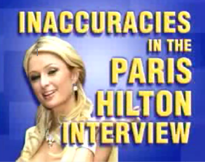 Paris Hilton On Larry King: Lies!