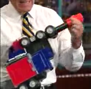 "Letterman ""Plays"" With A Transformer"