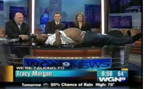 Tracy Morgan Does His Impression of a Pregnant Woman