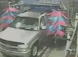 Man Opens Door In Car Wash