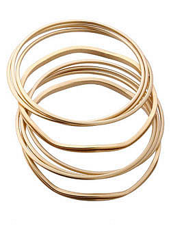 GUESS: Women Accessories: Jewelry: Bracelets: Gold Bangle Set