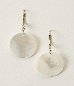 ANN TAYLOR Leverback Mother of Pearl Drop Earring