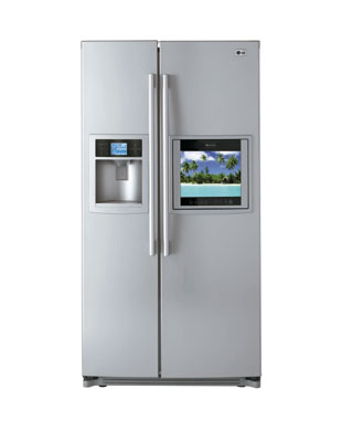 LG Refrigerator - TV, Remote Control, Kitchen Sink