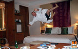 hotel bed jumping 1