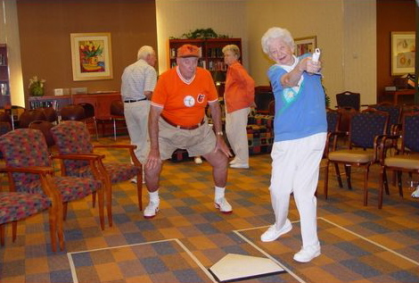 Seniors Have Some Swing Batter Batter Wii Fun