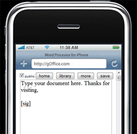 Geek Tip: gOffice The iPhone Word Program