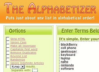 Geek Tip: Sort Any List With the Alphabetizer