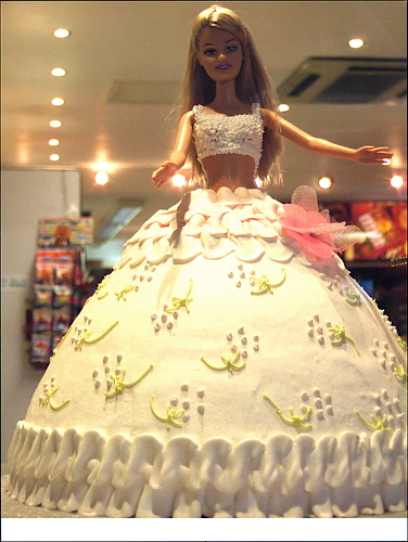 Happy Birthday Barbie Cakes