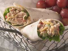 Monday's Leftovers: Tuna Mango Tortilla Wrap