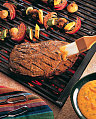 Sunday BBQ: Grilled Beef Sirloin and Famer's Market Skewers