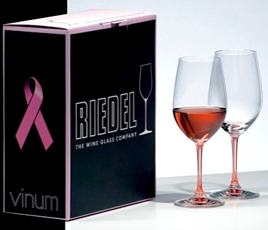 We Have a Winner! Riedel Pink Vinum Rosé Wineglasses