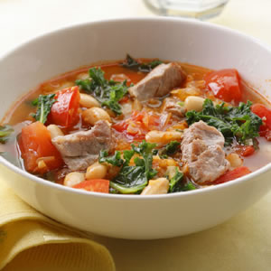 Monday's Leftovers: Pork, White Bean, and Kale Soup