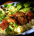 Fast & Easy Dinner: Moroccan Meatballs Over Couscous