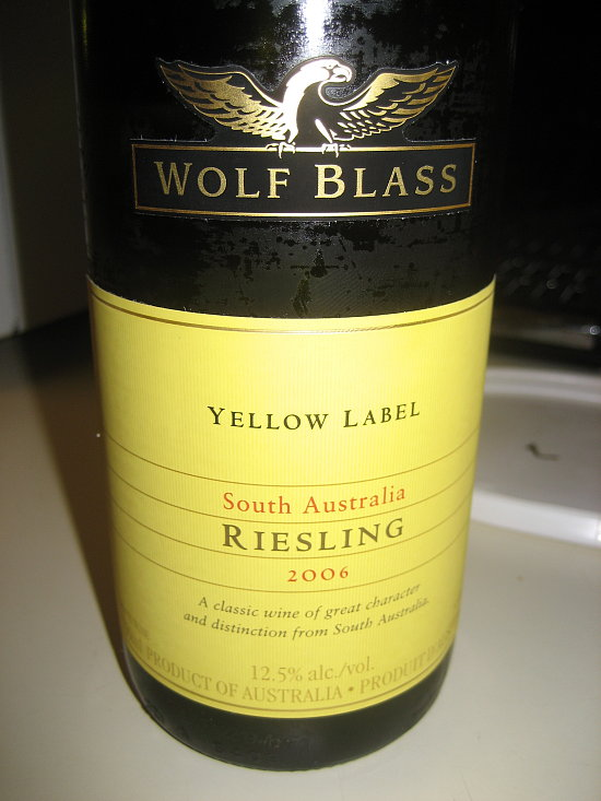Happy Hour: Wolf Blass Riesling