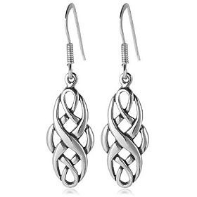 $22.99:  Sterling Silver Celtic Design Oval Dangle Earrings: Jewelry & Watches